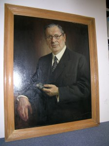 Portrait of Alfred Clark, by Arthur Porn, painted 1944  Copyright courtesy of  EMI  Archive Trust