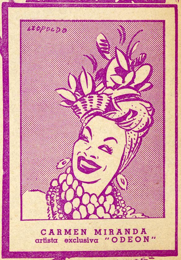 Odeon 1940s South American Catalogue - Carmen Miranda Copyright courtesy of  EMI Group Archive Trust