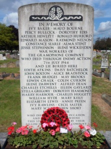 Memorial at Cherry Tree Lane Cemetery, Hayes. 7th July 2014